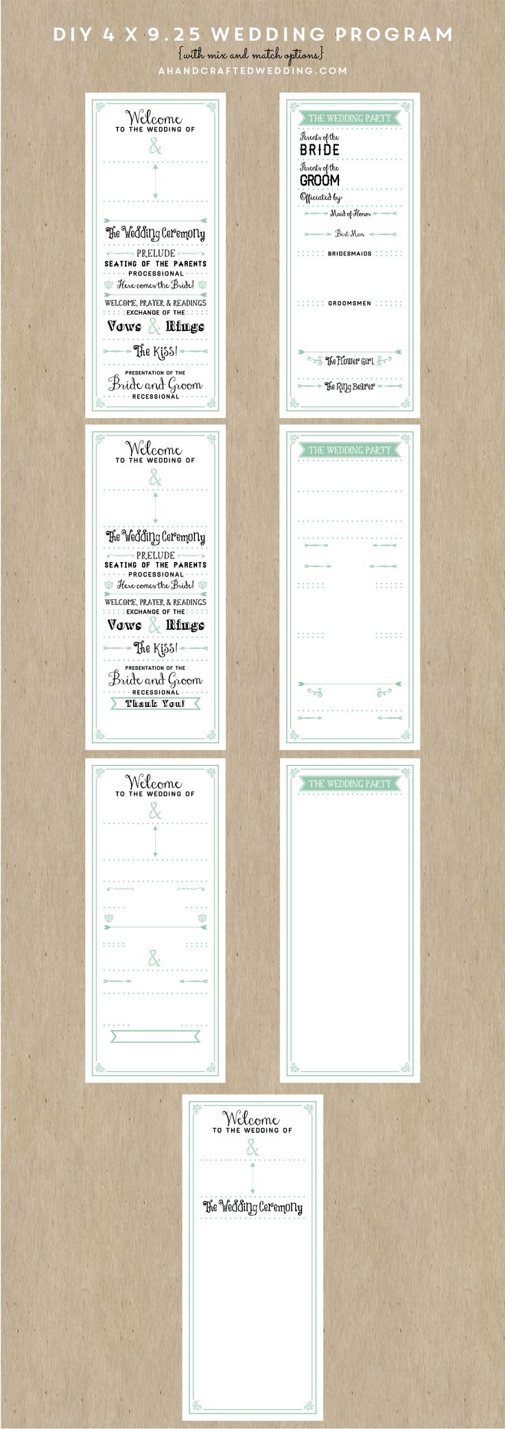 Free Wedding Fonts For Your Diy Invitations: 17 Best Ideas About Wedding Program Templates On Pinterest