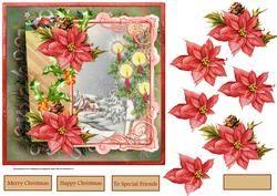 Vintage Kaarsen Kerst Burn Bright7x7 Card