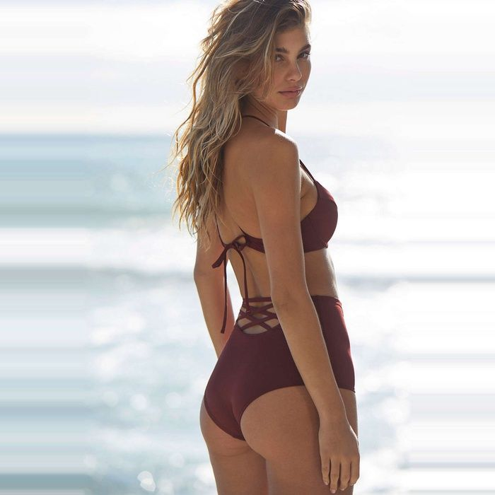Rank & Style - Out from Under Strappy Back High-Waisted Bikini Bottom #rankandstyle