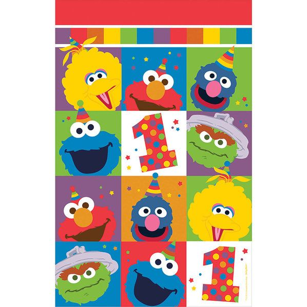 Check out Elmo Turns One Plastic Table Cover | Elmo's 1st Birthday tableware & décor from Wholesale Party Supplies from Wholesale Party Supplies