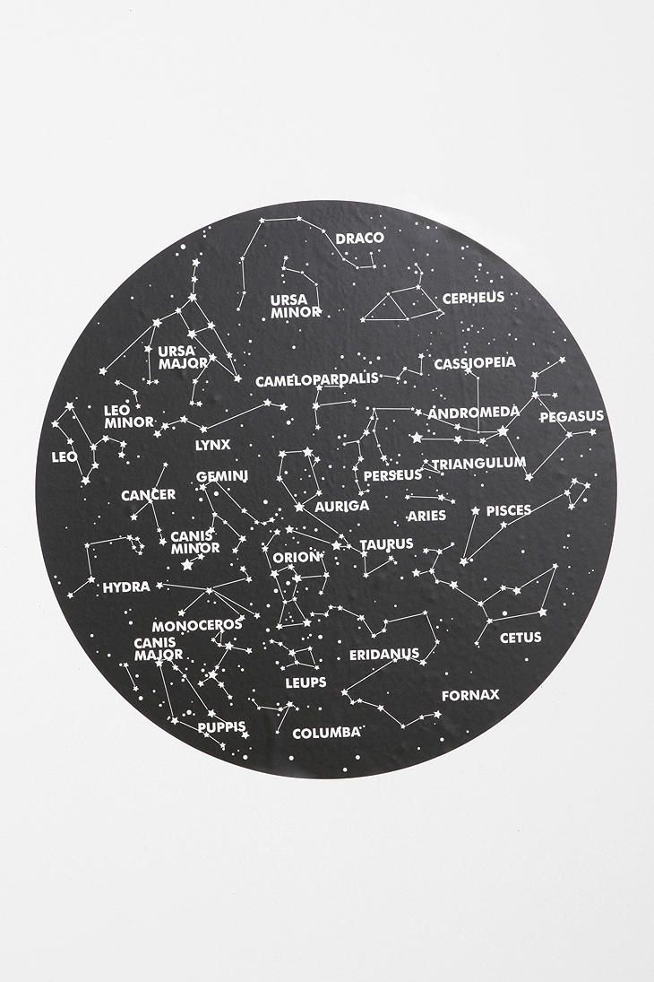 376 best mfa thesis film space inspiration images on pinterest katie thought this would be cool in your room constellation wall decal from urban