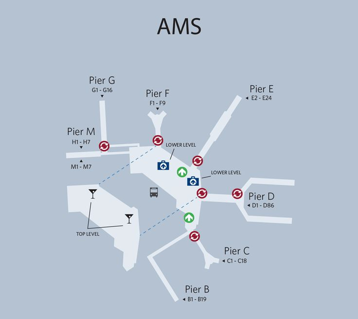 Amsterdam Airport Map Places I D Like To Go Travel
