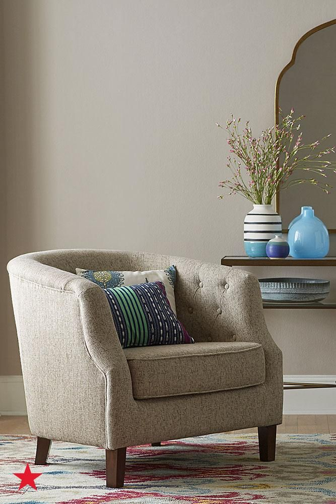 Add A Vintage Flair To Your Living Room With Tufted Arm Chair From Macys