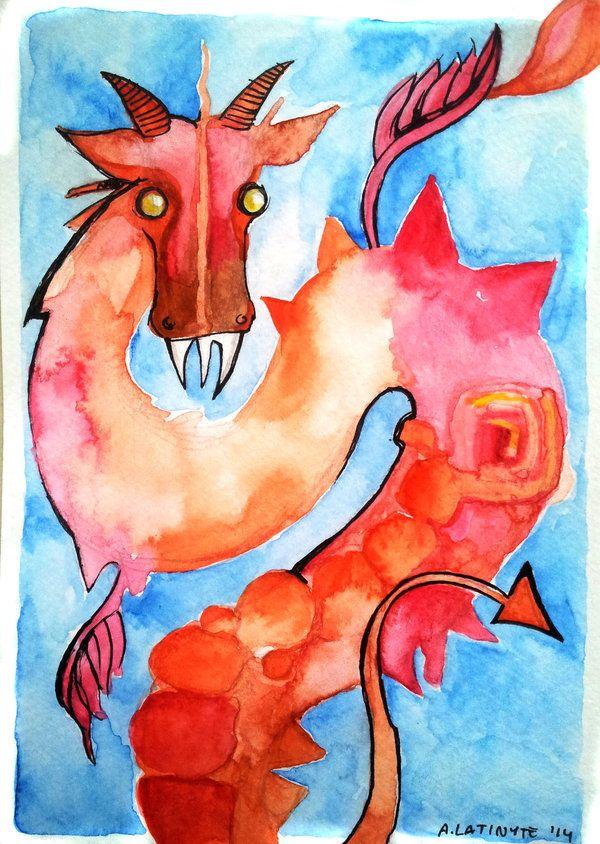 Serious red dragon by Yuujin on deviantART