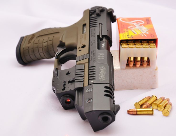 Ellis: The Walther P22 has a very tactical look, I like the way the laser just…