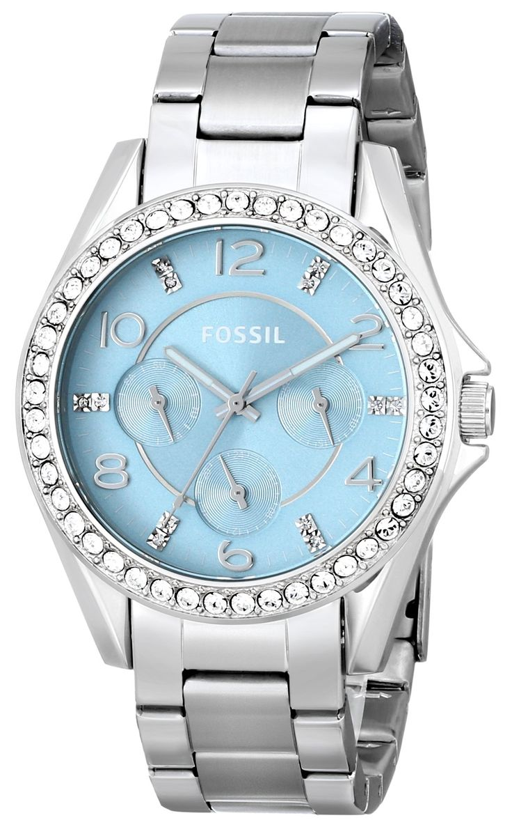 Amazon.com: Fossil Women's ES3529 Riley Multifunction Stainless Steel Watch - Silver-Tone: Fossil: Watches