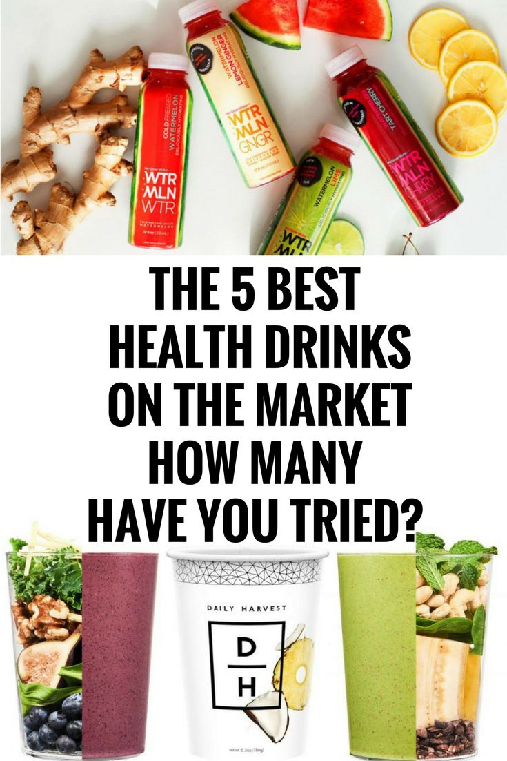 THE 5 BEST HEALTH DRINKS ON THE MARKET — HOW MANY HAVE YOU TRIED?`, $,``