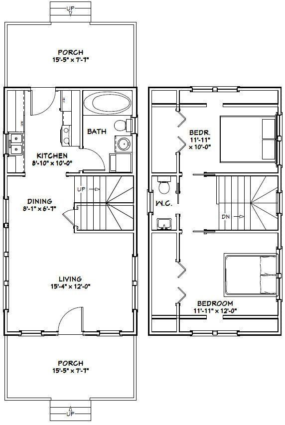 16x30 Tiny House 16x30h8e 878 Sq Ft Excellent