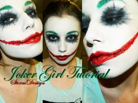 Joker Girl MakeUp Tutorial - YouTube