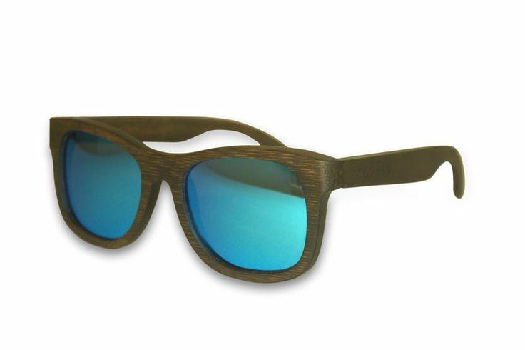 Madfas gafas en madera - CIRRUS – Oscuro / Lente Azul