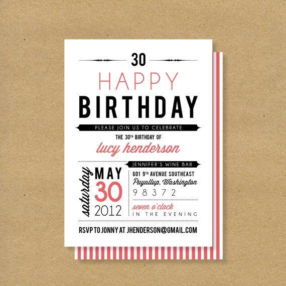 Best Birthday Invitations Adult Images On Pinterest Birthday - Birthday invitation fonts