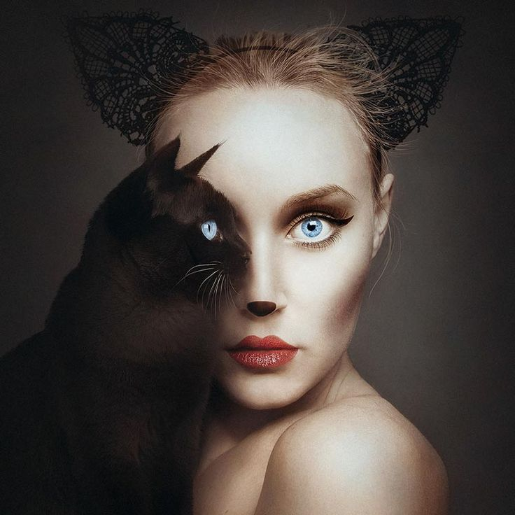 Animeyed is a new project of the Hungarian artist Flora Borsi, who imagined a series of amazing self-portraits in which she takes the stage with animals. In e