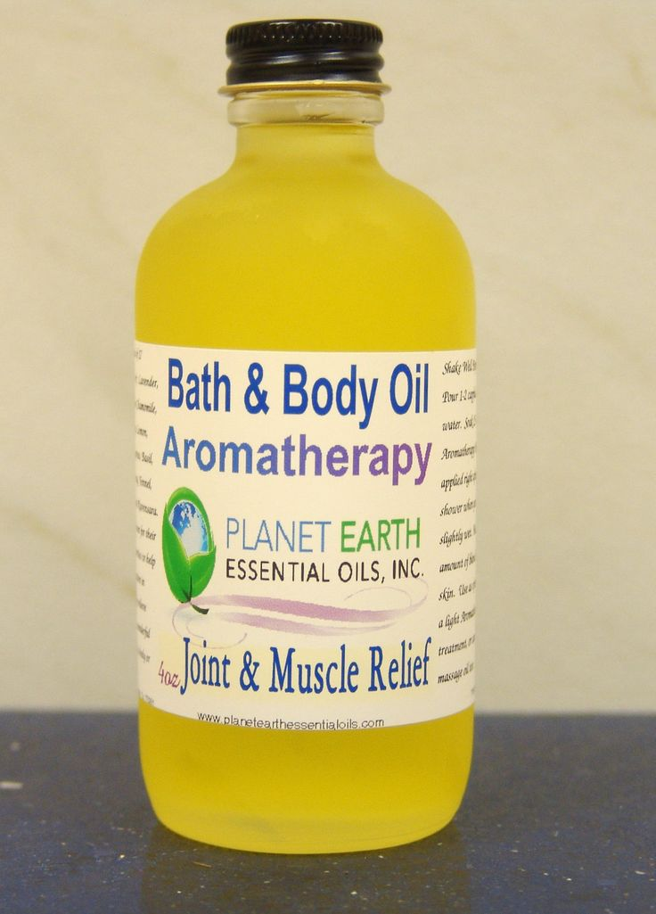 JOINTS/MUSCLES Aromatherapy Bath & Body Oil     by planetearthoils, $20.00