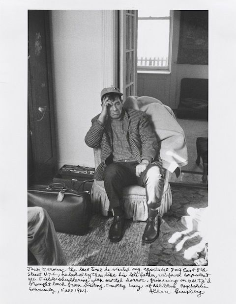 Jack Kerouac, the last time he visited Allen Ginsberg's apartment 704 East 5th Street,  NY, 1964