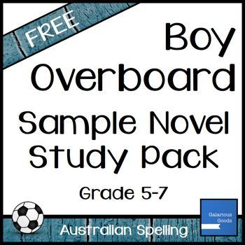 best boy overboard images booklet  boy overboard novel study sample pack