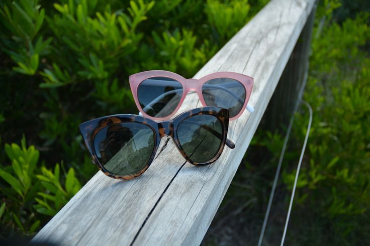 Wanda Polarised Sunglasses. Tortoiseshell in the foreground and Pink and white at the rear. Very cool.