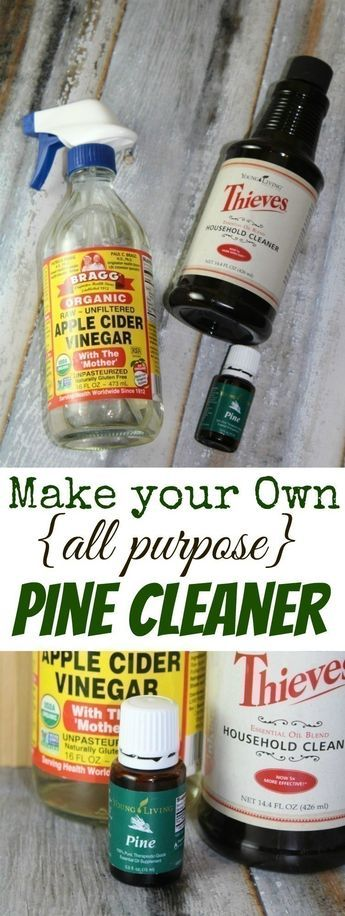 Ditch your Pine Sol in favor of a non-toxic DIY Pine Cleaner option!