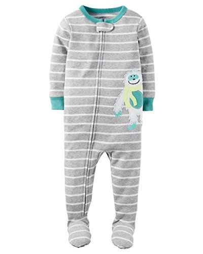 Baby Boy Clothes Carters Baby Boys Snug Fit Cotton Footie Pajamas Gray Sloth, 4T