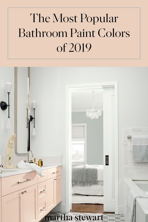 These Are The Most Popular Bathroom Paint Colors For 2019 Best Bathroom Colors Painting Bathroom White Bathroom