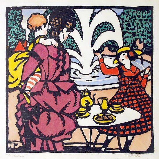 """The Fountain"" 1925 Thea Proctor"