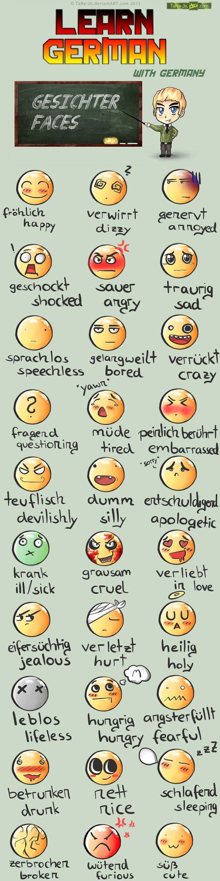 Learn German - Smileys by =TaNa-Jo on deviantART