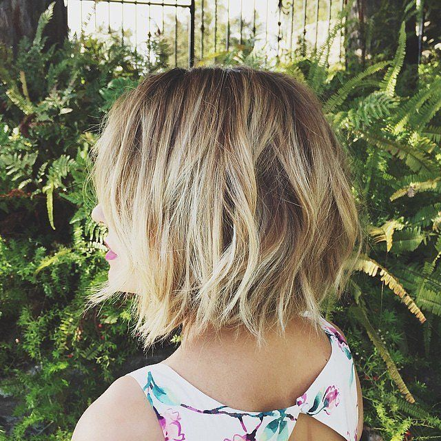 choppy layers at the very bottom give Lauren Conrad's cut the perfect texture