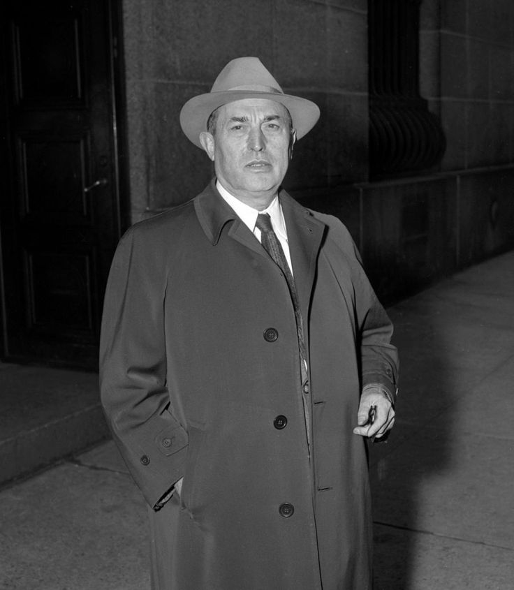 """Giuseppe """"Joe"""" Profaci, was a New York La Cosa Nostra boss who was also the founder of what is known today as the Colombo crime family, the last of the crime families. By 1930, Profaci was controlling numbers, prostitution, loansharking and narcotics trafficking in most of Brooklyn. After being sued by the IRS for unpaid taxes, Profaci risked deportation and was eventually arrested along with 61 other mobsters as part of the Apalachin Conference. He was sentenced to 5 years in prison…"""