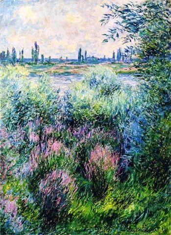 Claude Monet - A Spot on the Bank of the Seine, 1881