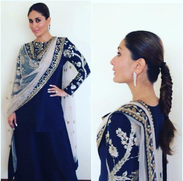 Royal in Blue! Kareena Kapoor Dazzles at a Store Launch in Hyderabad | PINKVILLA