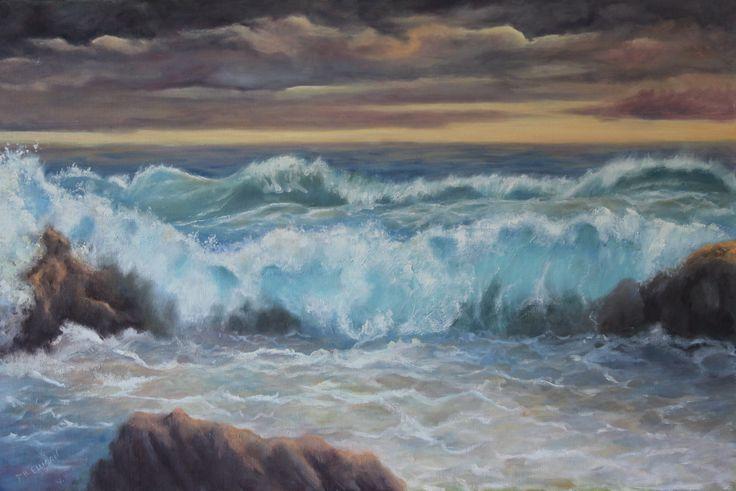 Storm a Brewing - Oil by Denise Ellison October 2015 (Sold)