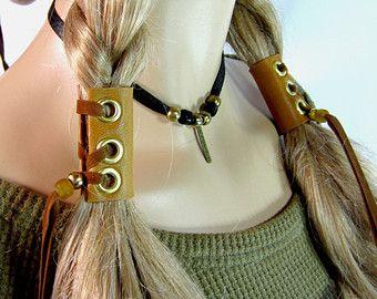 Haar Accessoires Leder Haargummis wulstige Wraps von Vacationhouse