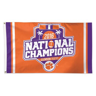 Clemson Tigers WinCraft College Football Playoff 2016 National Champions 3' x 5' Single-Sided Deluxe Flag