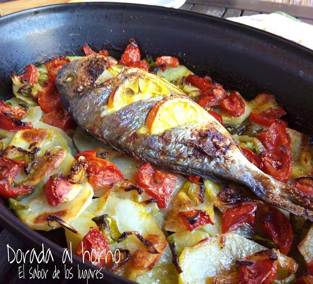 RECETA DORADA AL HORNO, Hoy os traigo una receta de pescado deliciosa, fácil y sana: Dorada al horno con verduras. No sé si está mas bueno el pescado o las