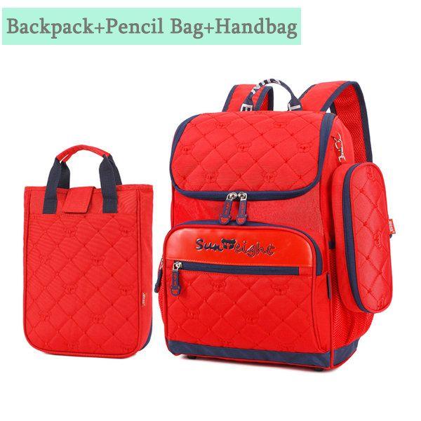 Kids Nylon 3 PCS Multifunction Shoulder Bag Backpack Durable High-end Schoolbag
