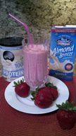 Almond Breeze Milk, Designer Whey Protein smoothie recipe! yes!