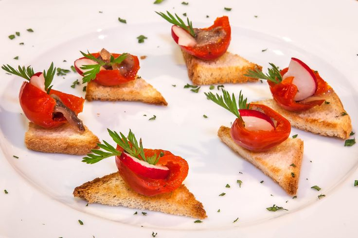Peppers with anchovy fillets