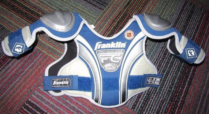 FRANKLIN FUTURE CHAMPS SP 390 YOUTH ICE HOCKEY SHOULDER PADS SIZE: SMALL. GUC  #FRANKLIN