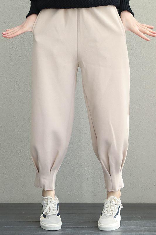 Korea Style Women Casual Pants Winter Harem Trousers Q1932
