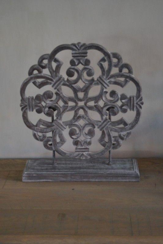 Landelijk Houten Ornament (Grijs) | Woon Accessoires & Decoraties | House of Harrison