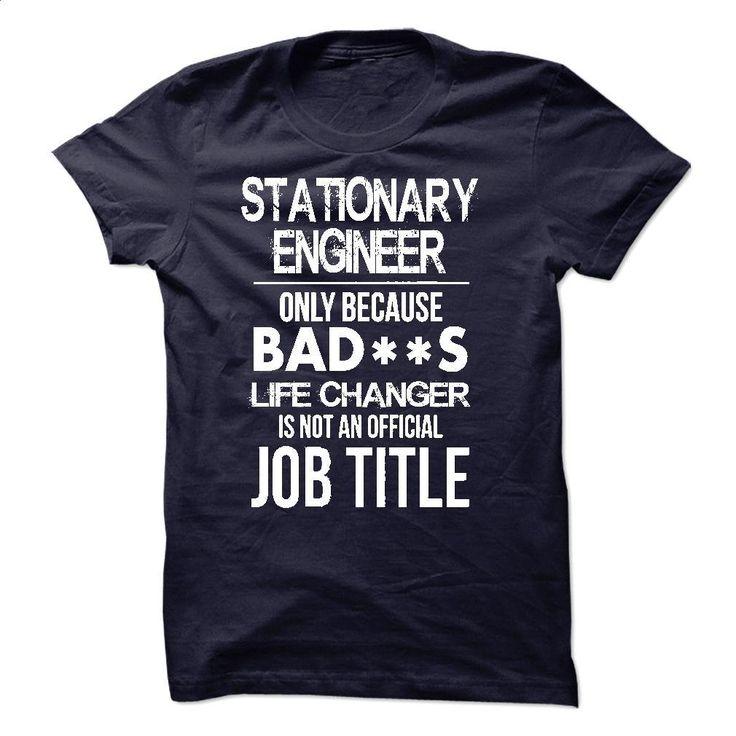 Stationary Engineer T-Shirt T Shirts, Hoodies, Sweatshirts - #boys #mens hoodie. PURCHASE NOW => https://www.sunfrog.com/LifeStyle/Stationary-Engineer-T-Shirt-52726279-Guys.html?id=60505