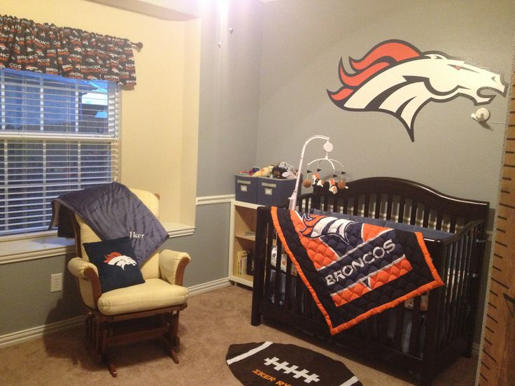 Denver Broncos Nursery Aka Little Guy Man Cave Baby