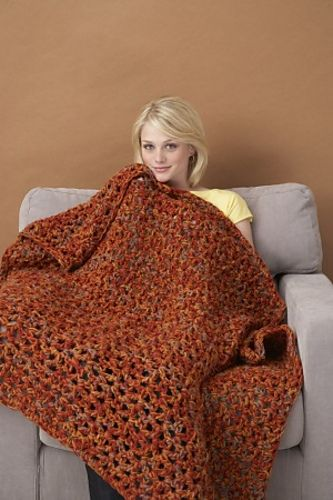 Crochet Patterns By Yarn Weight : 45 x 60 Throw in Lion Brand #860 Vanna?s Choice on Q-19, 15.75 mm ...