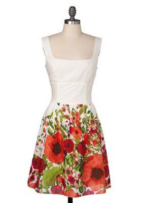 Poppy dress. With the right cardigan/shrug I am all over this dress. Poppy pleasure.