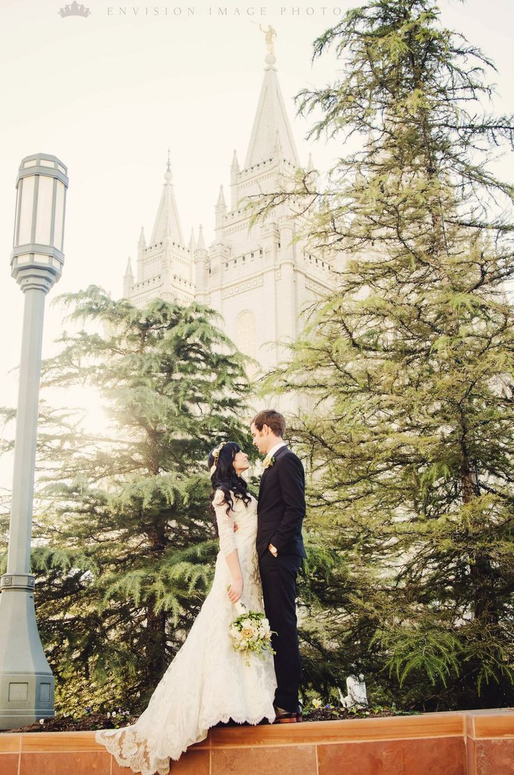 This is one of my favs!!! Wedding Shot outside the Salt Lake City, Ut LDS Temple