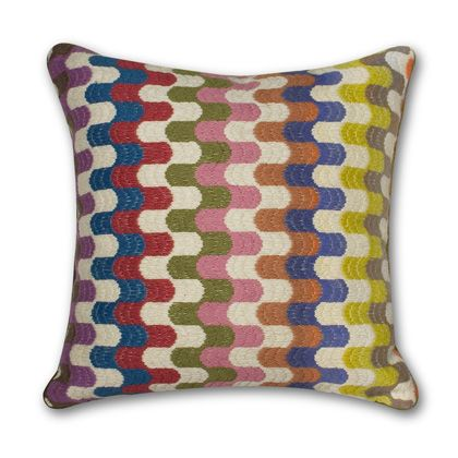 Jonathan Adler Multi Bargello Puzzle Pillow in All Pillows And Throws