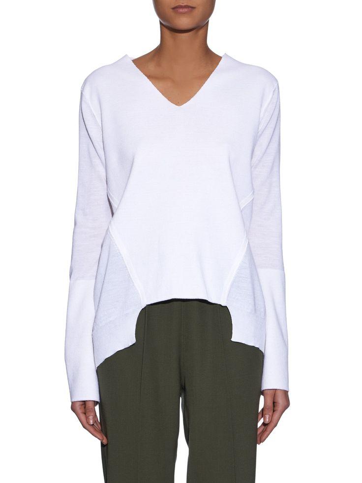 Asymmetric wool and silk-blend sweater | Stella McCartney | MATCHESFASHION.COM