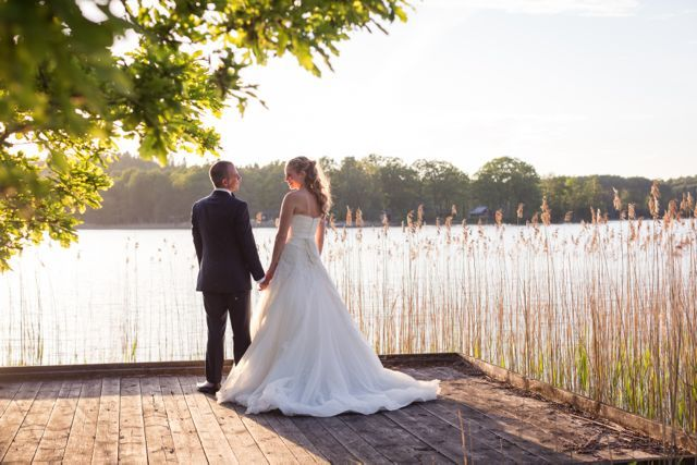 Me and my husband :) Dress from Pronivias 2013 collection. Photo by Linda Jöner. #wedding #weddingphoto #romanticphoto #sunset