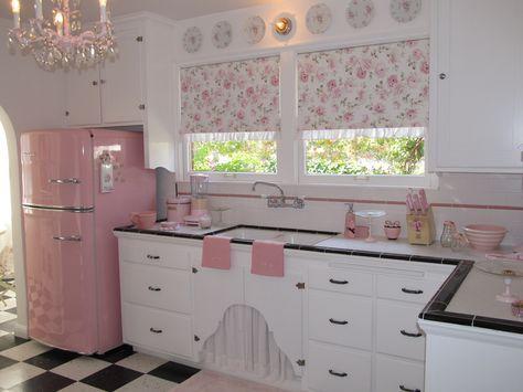 cozinha romântica :: retrô e cor-de-rosa <3