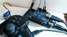 Control de un servo motor desde un mando de PS3 conectado al modulo USB Host Shield