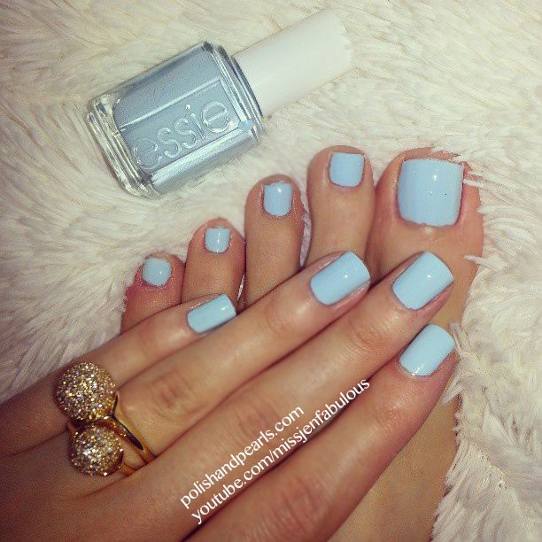 Just bought this color, so excited to use it - Essie Borrowed and Blue